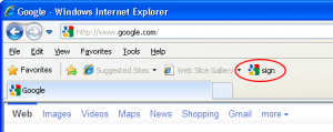 bookmarklet in Internet Explorer favorites bar