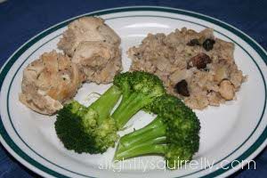 Chicken and brown rice dish