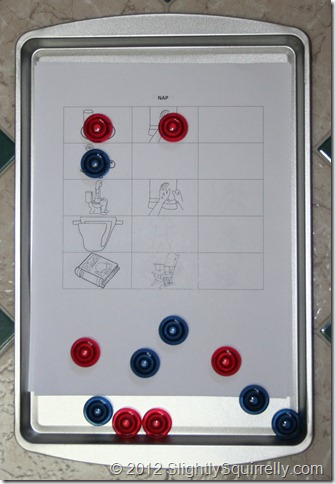 magnetic task chart