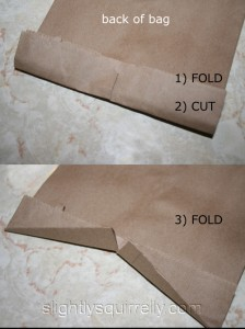 how to fold the top of the bag