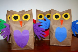 parliament of owl gift bags